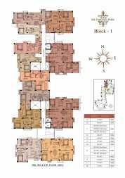 Eden Richmond Park - Block 1 2nd,3rd & 4th Floor Plan