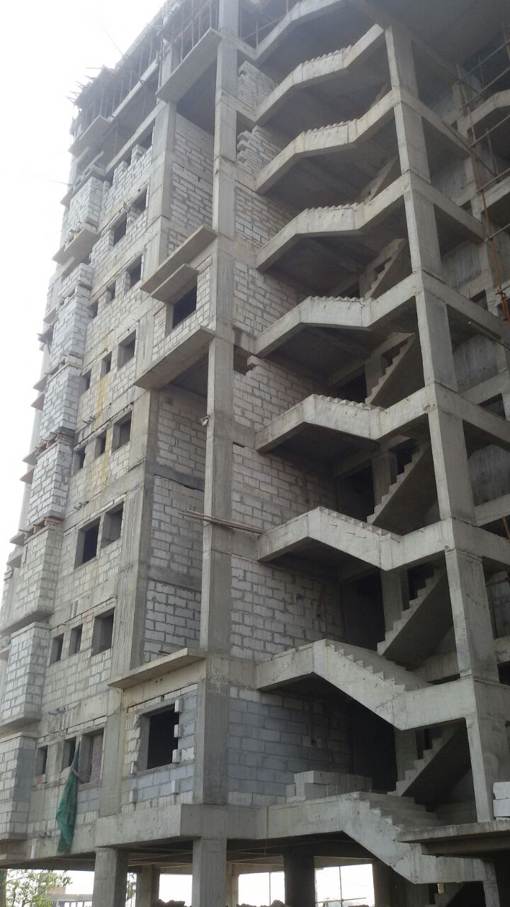 10th Floor Casting Completed,, Brickwork going on