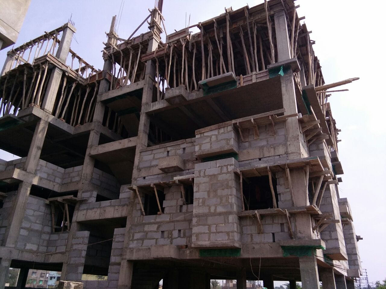 Block - H - Roof Slab Casting is going on