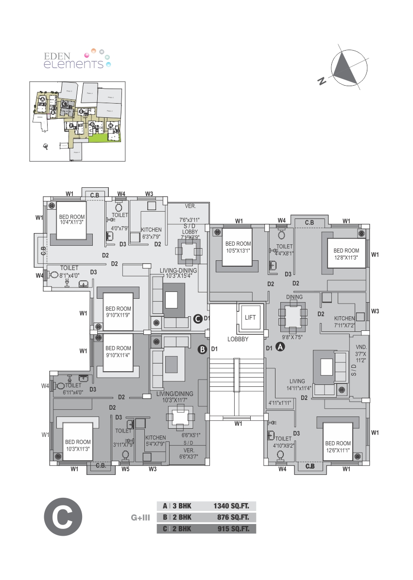 Eden Elements - Block C Floor Plan