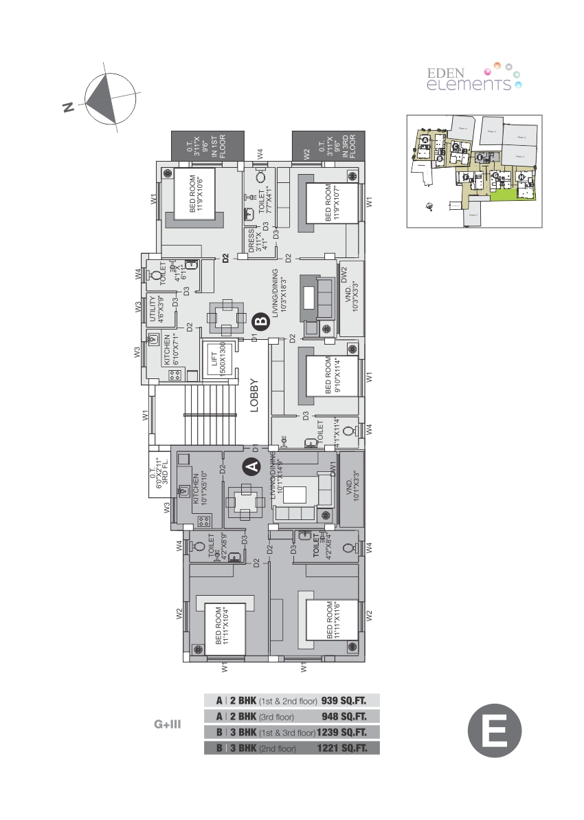 Eden Elements - Block E Floor Plan