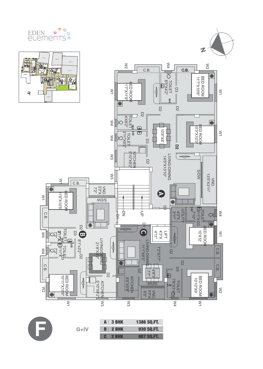Eden Elements - Block F Floor Plan