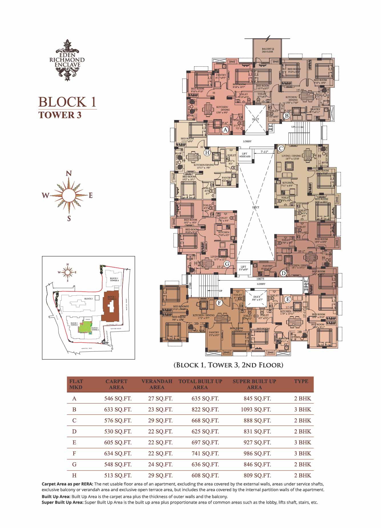 Block 1 Tower 3, 2nd Floor