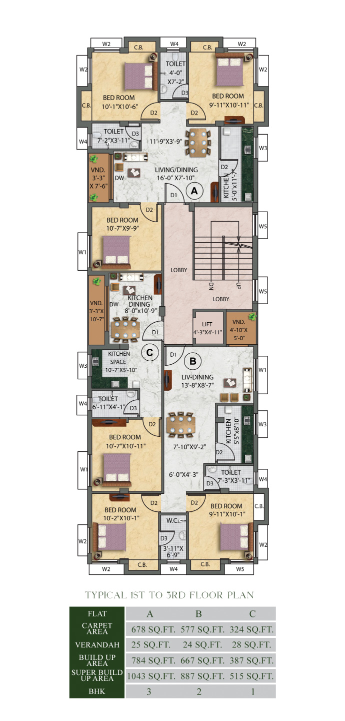 Eden-Ivory-First-to-Third-Floor Plan