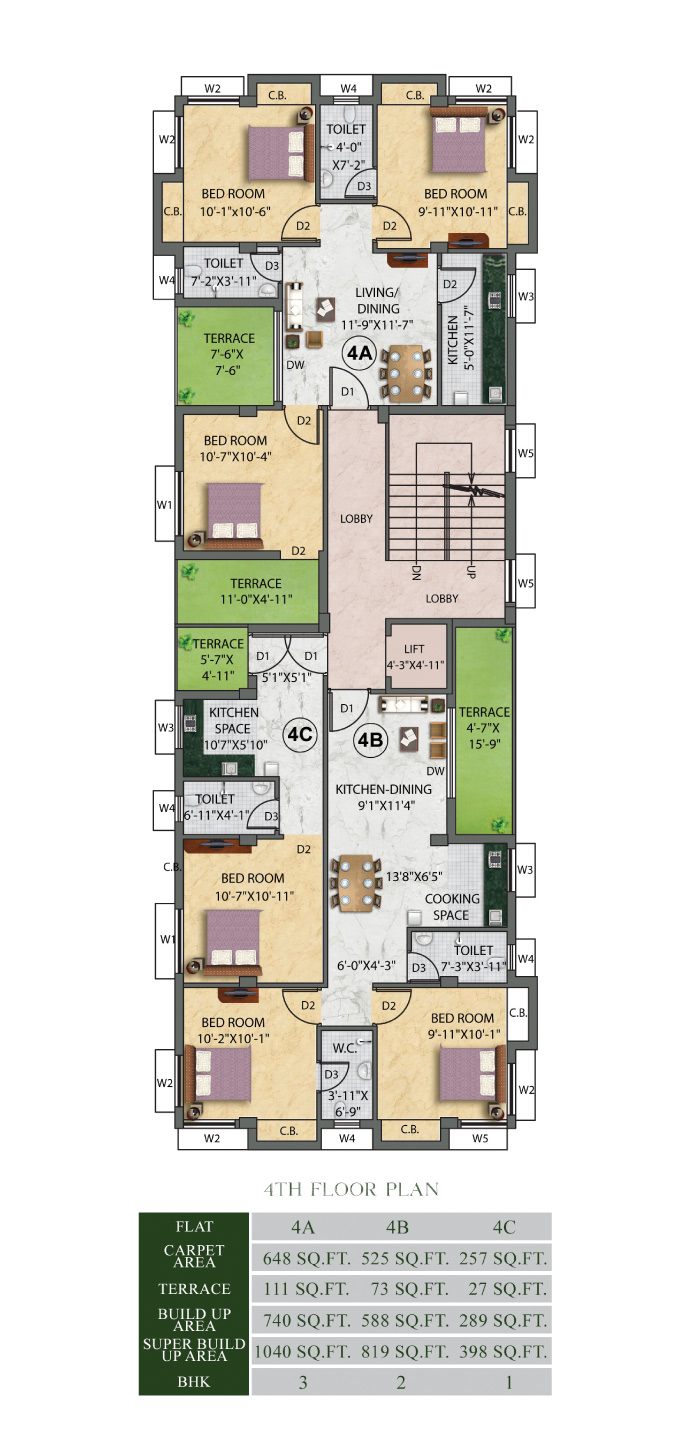 Eden-Ivory-Forth-Floor Plan