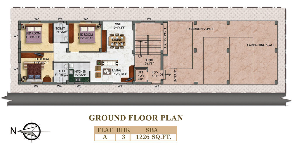 Eden Radiance - Ground Floor Plan