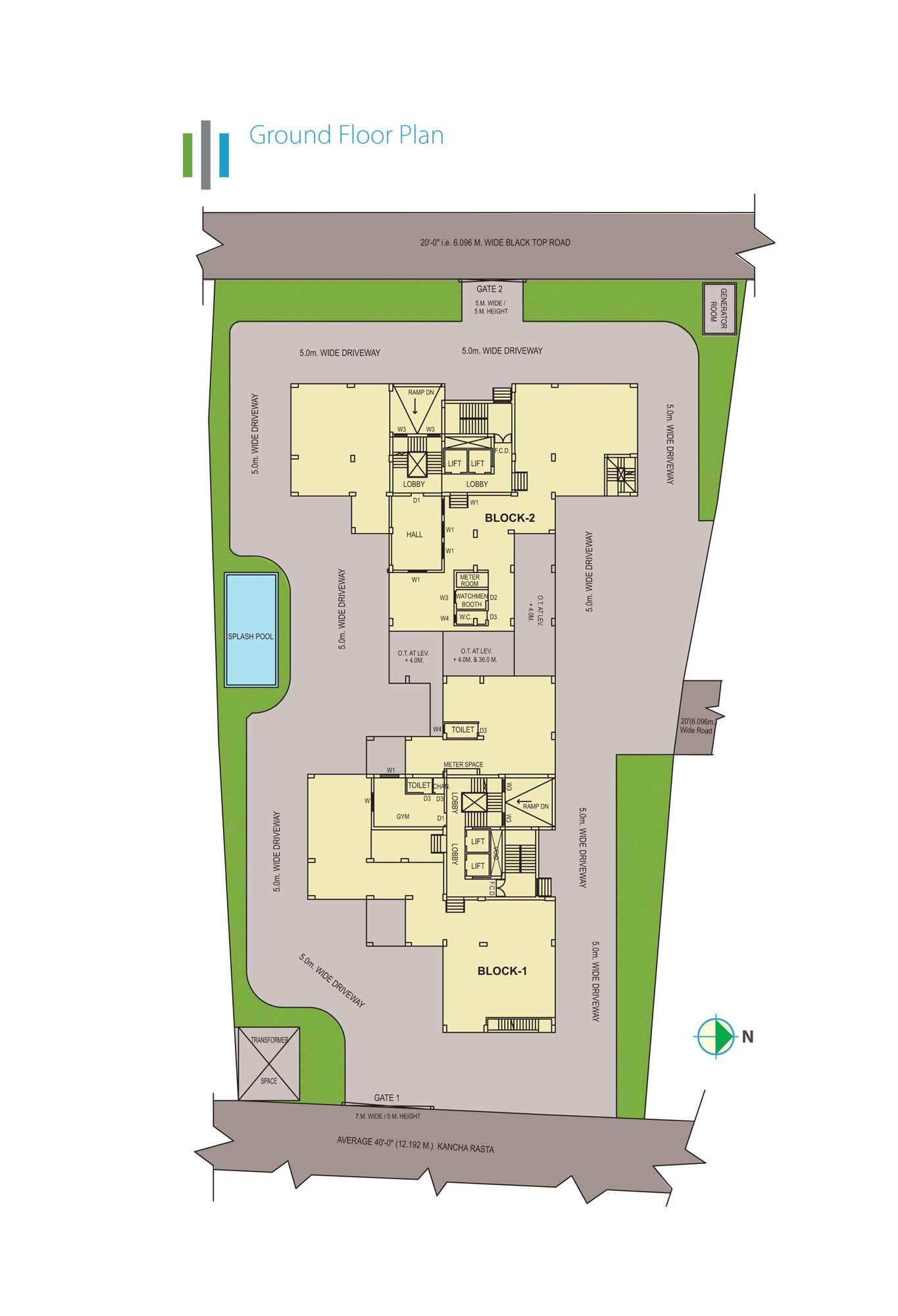 Eden Sky Terraces - Ground Floor Plan