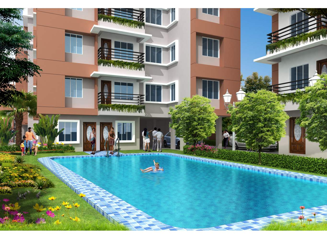 Astor Park Swimming Pool - Flats in Kolkata for Sale