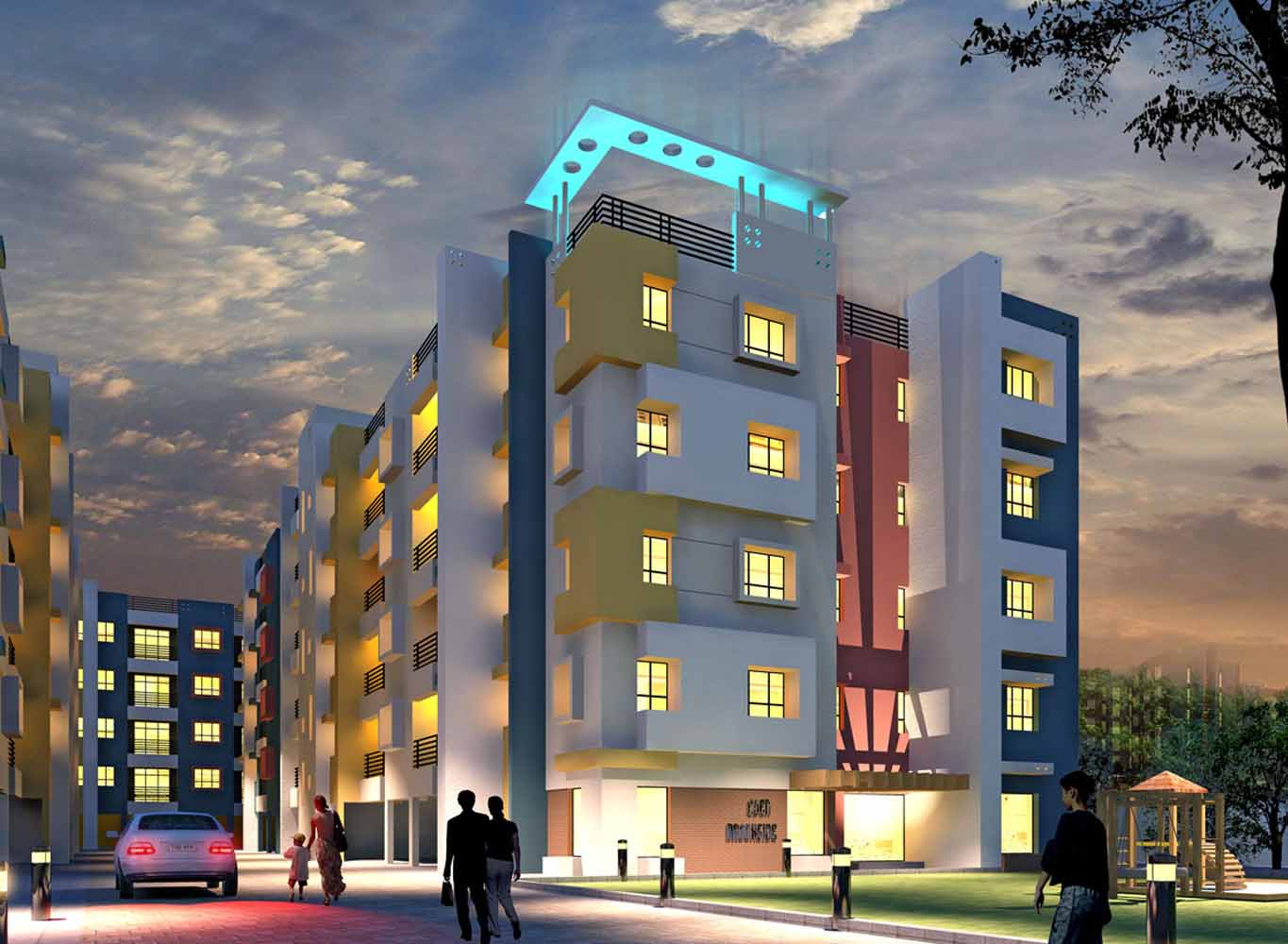 Eden Brookside Night - Property in Kolkata