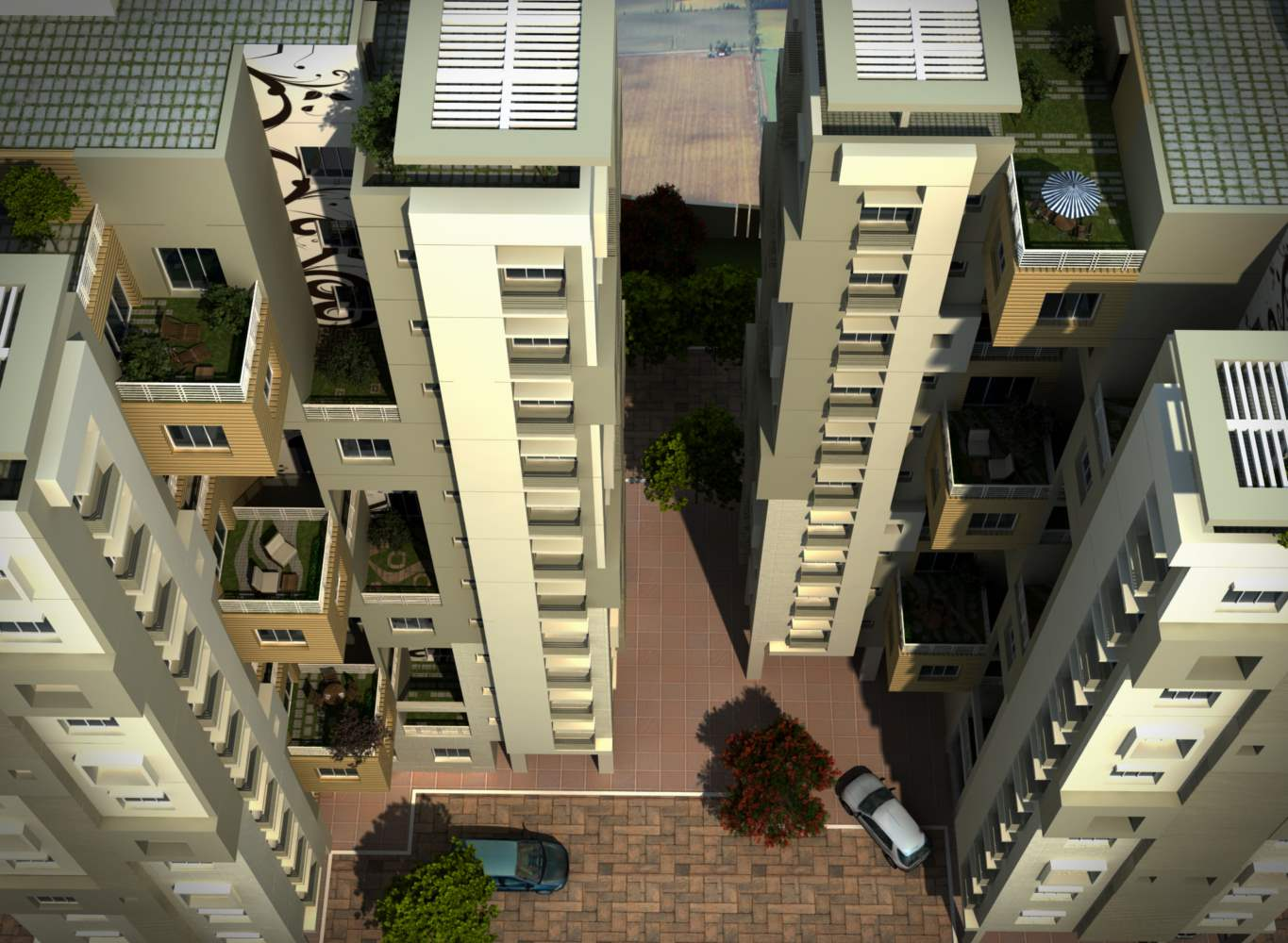 Eden Sky Terraces Daylight - Buy Flats in Kolkata