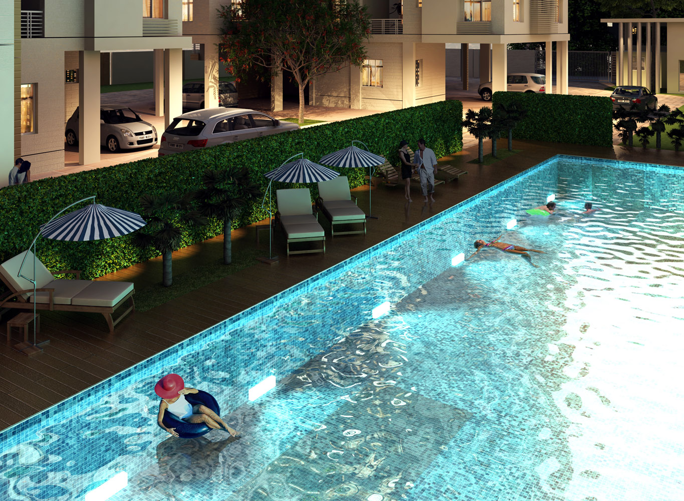 Eden Sky Terraces Swimming Pool - New Flats in Kolkata