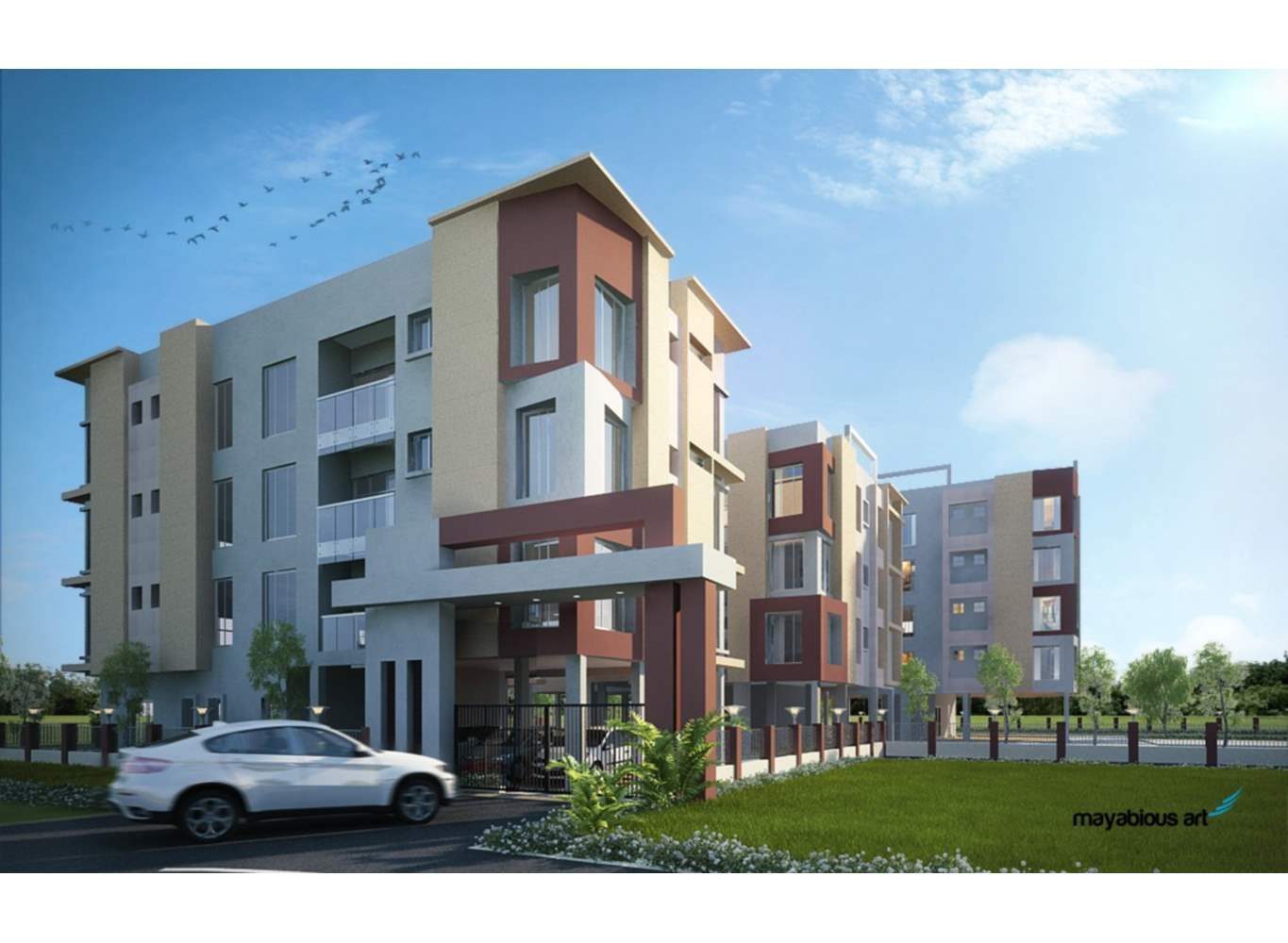 Eden Elements Entrance View - Flats in Kolkata for Sale