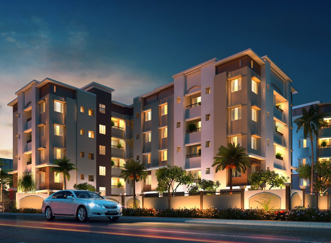 Eden Horizon Entrance - Flats Near Khudiram Metro