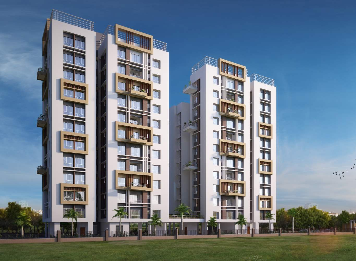 Eden tolly signature plus flats in kolkata for sale for Modern high rise building design